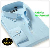 2014 New men  Casual  slim fit  shirt  long  Sleeve  striped  Ma Purcell    camiseta shirts  XTW-001-8   XS S M L  XL XXL XXXL