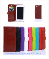 """Genuine Sheep Leather Mobile Phone Case for iphone 6 4.7"""" Hot Sell  Piece Luxury Flip Case With Card Slots Wallet Cover Shell"""