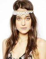 Fashion Hair Jewelry high quality personalized Imitation Pearl Elastic Hair Band