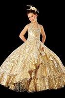 2014 New AMAZING SHINING TURQUOISE CORN  ROSE PETAL WEDDING PARTY PAGEANT FLOWER GIRL DRESS  Size 2 4 6 8 10 12 14 16 +