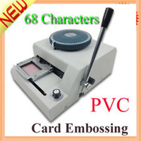 WARRANTY 100% NEW STAMPING MACHINE 68 LETTER MANUAL CARD EMBOSSING MACHINE MAGNETIC ID PVC CARD EMBPSSER PLASTIC CARD