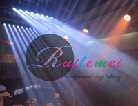 Free Shipping 8*10W Led Scan Beam Light White or RGBW 4 in 1 Color DMX Stage Effect Lightings, 4Pcs/Lot