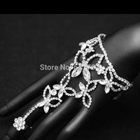 2014 New  Free Shipping Original Design Silver Crystal Bridal Bracelets Bangles Wedding Jewelry Wrap Bracelet