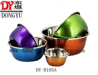 Factory Export Different Size Eco-Friendly Colorful #201 Stainless Steel Deep Mixing Bowls,Multi-Color Export Gift Bowls Factory