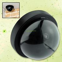 Free shipping EL0503 Dome Fake Imitation Security Camera W Blinking Light