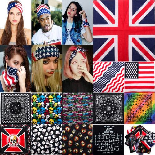 Flag Skull Stars Bandana Headwear/Hair Bands Scarf Neck Wrist Wrap Headtie Band(China (Mainland))
