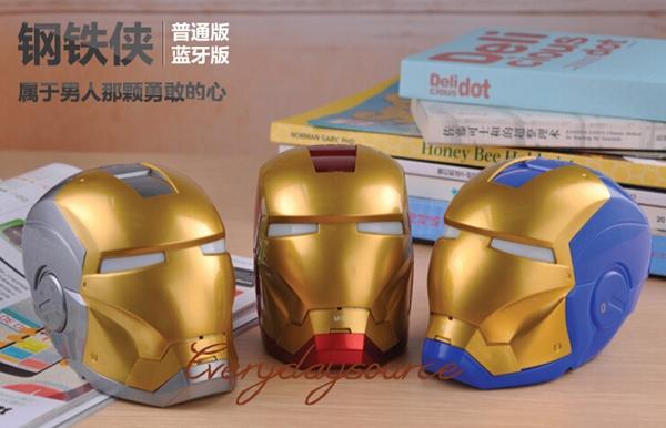 2014 Helmet Iron Man Bluetooth Speaker Mini Boombox Wireless Speaker TF Card + USB Mini Music Speaker Handsfree Function(China (Mainland))
