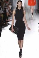 2014 New Victoria style Hollow-up  turn-down collar Sheath Dress Narrow dress  free shipping