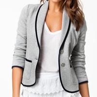 Free shipping 2014 autumn women casual short suits plus size women's euyope style blazers outwear coats l1233