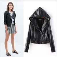 Free shipping women Leather jacket 2014 autumn slim PU motorcycle jackets ladies outwear coats l1265