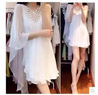 2014 summer women's all-match sweet elegant  irregular one-piece dress