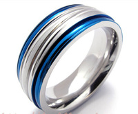 19948 male blue titanium ring Men personalized hot sell