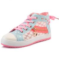 2014 New Women Sweet Casual Gauze Fashion Shoes Lacing Flat Heel Canvas Female Sneakers Sapato Feminino Alpargata Free Shipping