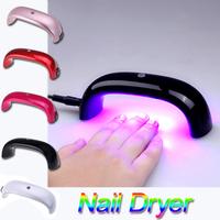 2015 Fashion 6W 100-240V LED Light Bridge shaped Mini Curing Nail Dryer Nail Art Lamp Care Machine for UV Gel EU Plug