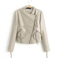 Free shipping 2014 brand news autumn women Leather jacket  PU motorcycle slim jackets ladies clothing l1277
