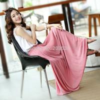 2014 Women Amazing Chiffon Casual Long Skirt Fashion Bohemian Princess Pleated Skirt Size XS S M L 9 Colors