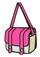 Free Shipping 2014 3D Jumple Style 2D Drawing From Cartoon Paper Bag Comic Messenger Bag Women Cross Body Shoulder Handbags