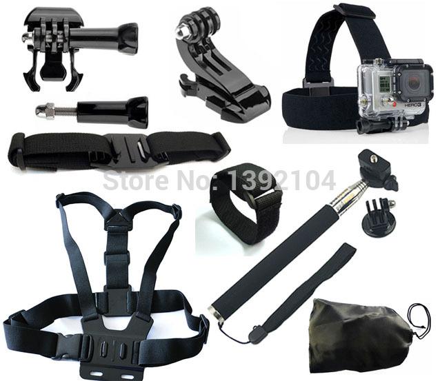 go-pro-kit-go-pro-hero-4-2-hero3-hero3-black-edition-acessories-monopod-chest-helmet-wifi-strap-mount-sj5000-sj4000-accessories