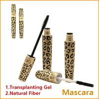 1 SET New 300% Lengthening Mascara Set Transplanting Gel + Natrual Fiber with Leopard Print Case