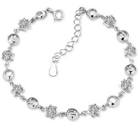 2014 New 100% Sterling Silver 925 Jewelry 520 I Love You Bracelets & Bangles Fine Jewelry Free Shipping