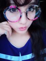 2014 vintage metal circle Women glasses big box repair myopia glasses Men eyeglasses frame