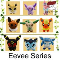 """Free shipping 9pcs/lot Pokemon Plush Toys 5"""" Umbreon Eevee Espeon Jolteon Vaporeon Flareon Glaceon Leafeon Sylveon Soft Stuffed"""