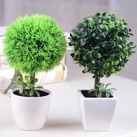 Artificial bonsai set green plants ceramic vase home decorations creative gifts