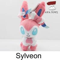 "Free shipping 10pcs/lot Pokemon XY Plush Toys 5"" 12cm Sylveon Pocket Soft Stuffed Animals Doll Figure Collectible Wholesale"
