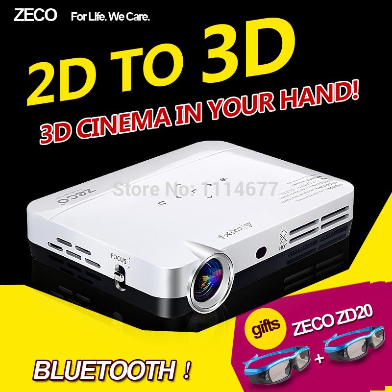 Zeco cx3 completa en 3d hd proyector 1080p dlp portátil 3d mini-proyectores envío gratis