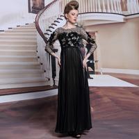 New Gorgeous Black Lace Sexy Prom Dress Women Back Transparent Luxurious Appliques Shiny Sequin Formal Dress Long Evening Dress