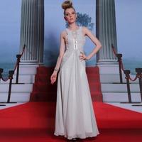 New Gorgeous Gold Sequin Prom Dress Women Cap Sleeve Pleat Luxurious Crystal Formal Dress Long Evening Dresses Party Dress