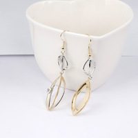 Min.order is $15 (mix order)  18K Gold Plated Geometric Metal Pieces Earring YJ07783DE