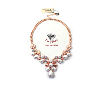 XL10 Foreign trade act the role ofing is tasted SUMNI brand short rose gold shining pearl necklace