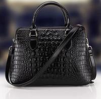 free shipping new arrival women business crocodile genuine leather designer handbags,hotsale cowhide shoulder bags 9031