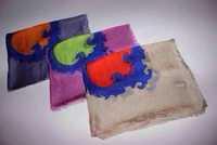 Si Xili yarn trade of the original goods really big beautiful Baroque square 100% silk shawl
