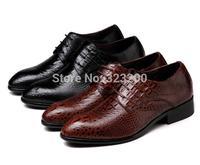 2014 crocodile skin suit business leather fashion men's low help shoes list