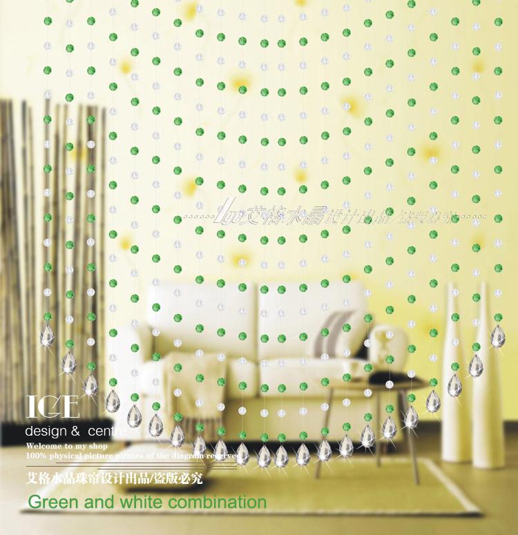 CU136 Height Customized Wonderful Glass Beads Louvers Price Wall Curtain(China (Mainland))