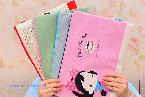 31*23CM Kawaii Girls Oxford File Folder Documents File Bag / Stationery Filling BAG - School Office Storage File Pouch Holder(China (Mainland))