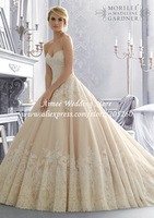 Designer Sweetheart Ball Gown Lace Vintage Brides Wedding Dress 2014 Vestido Para Casamento MC047