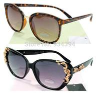 Brand Vintage Round Frame Designer Floral Fashion Sunglasses Men Women Retro Eye Glasses Oculos De Sol Lentes Gafas Super Deals