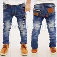 retail Spring 2014 new children's clothing boys wild baby jeans children trousers new Korean version
