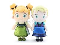 New arrival 30cm Plush Elsa Frozen dolls soft doll Toys Princess Anna 40pcs/lot, each model 20pcs