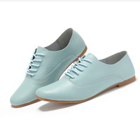 New arrival women genuine leather shoes spring and summer flats casual woman sneakers point toe all match women shoes 2015