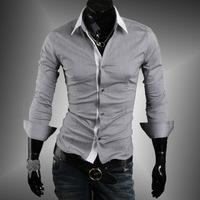 2014 New Fashion Casual And Comfortable Minimalist White-Collar Men Slim Casual Long-sleeved Shirt Mens Dress ShirtsCS905