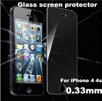 Горячая распродажа для Alppe iPhone 4 4S 2.5D премиум закаленное стекло экран протектор ...
