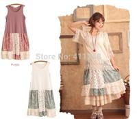 Mori girl cutout lace patchwork loose cardigan with a hood mori girl autumn cardigan sweater blazers feminino woman blaser