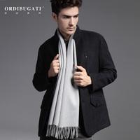 Ordibugati solid color classic pure cashmere scarf male lamb general women's autumn and winter gift box set
