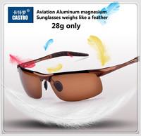 2014 Male Aviator Sunglasses Polarized Sun Glasses Aluminum Magnesium Alloy Polaroid Men Sunglasses Fishing Drving Oculos Gafas