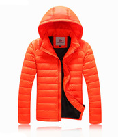 2014 new men's winter down jacket hooded outdoor sports jacket parka man overcoat 4 colors free shipping