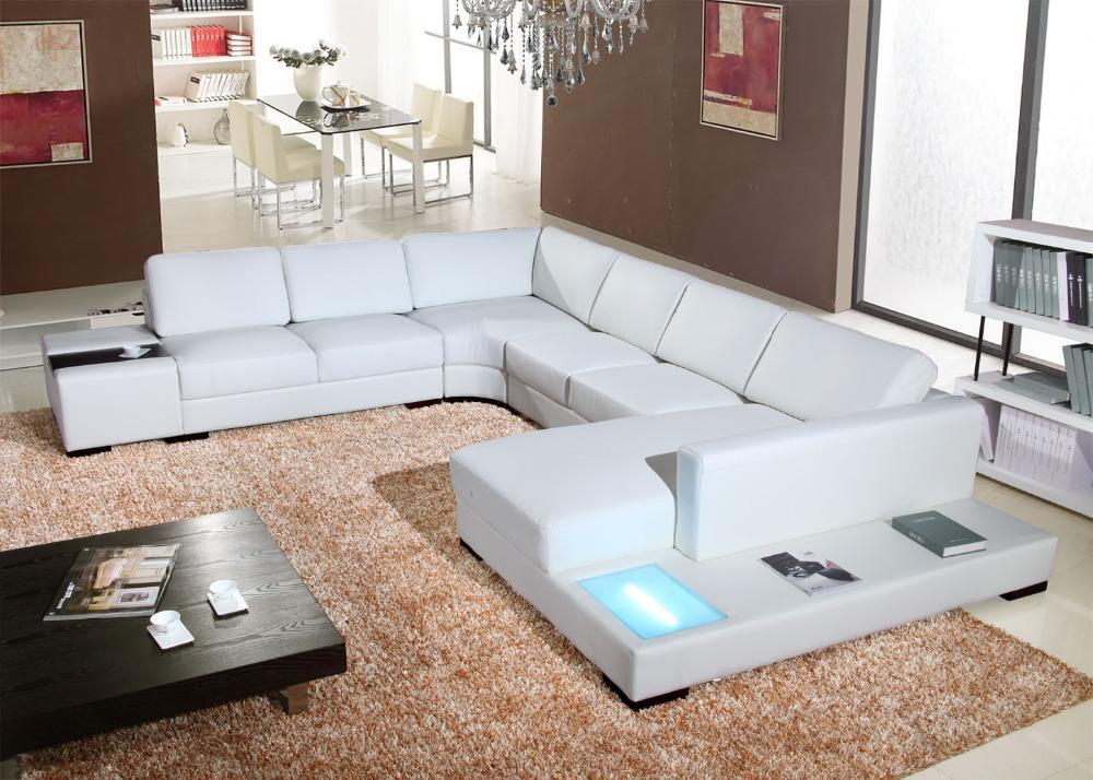 Acquista all'ingrosso Online angolo divano in pelle bianca ...